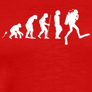 Evolution Dykning 3 - Premium-T-shirt herr