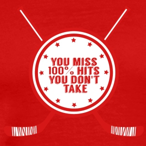 Hockey: You miss 100% hits you don't take - Men's Premium T-Shirt