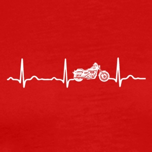 ECG HEARTBEAT CHOPPER BIKE MOTORCYCLE White - Men's Premium T-Shirt