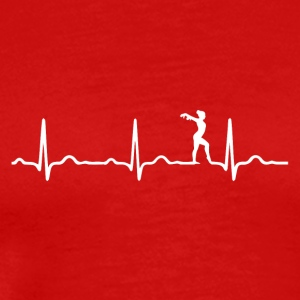 ECG HEARTBEAT BALLET White - Men's Premium T-Shirt