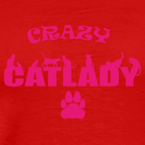 CRAZY Catlady pink - limited - Men's Premium T-Shirt
