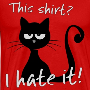 Grumpy Cat Cat grumble cat does not like gift - Men's Premium T-Shirt