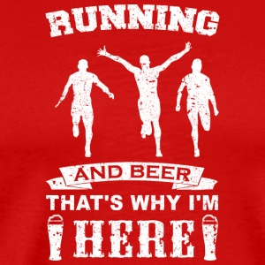 Running Beer Running Jogging Beer Shirt - Men's Premium T-Shirt