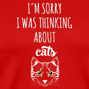 cat cat sorry thinking about gift gift - Men's Premium T-Shirt
