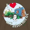 I 'love' my allotment - Men's Premium T-Shirt