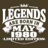Legends are born in may 1980 - Men's Premium T-Shirt