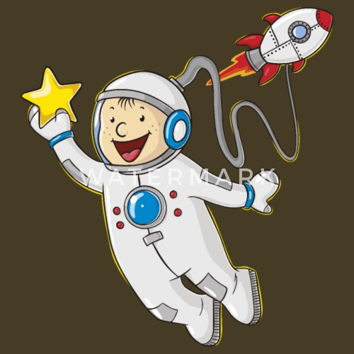 Little astronauta cartone animato di reisdesign spreadshirt