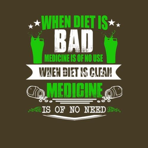 Diat Medizin Shake Smoothie Geschenk Manner Premium T Shirt