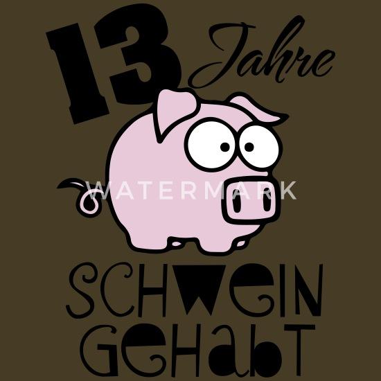 Abi 13 Jahre Schwein Gehabt Männer Premium T Shirt