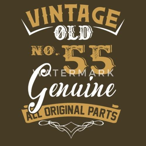 Vintage 55 Jaar Oud Allemaal Origineel Onderdeel Mannen Premium T