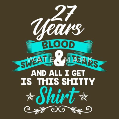 Verjaardag 27 Jaar Overhemd Verjaardag Grappig Mannen Premium