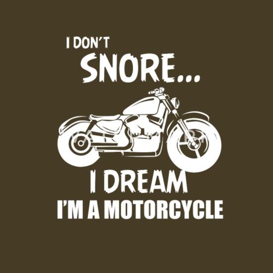 Io non russo, sogno io sono una moto Maglietta premium uomo