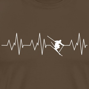 Heart beat ski - Men's Premium T-Shirt