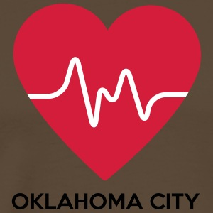 Heart Oklahoma City - Men's Premium T-Shirt