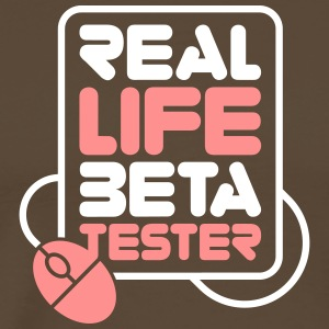 Real Life Beta Testers! - Premium T-skjorte for menn