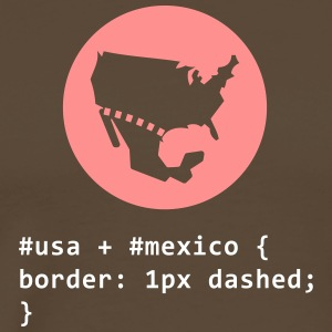 CSS Pun: American-Mexican Border - Men's Premium T-Shirt