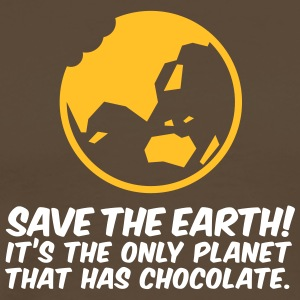 Save The Earth! La seule planète qui a du chocolat - T-shirt Premium Homme