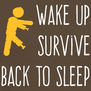 Wake Up. Survive. Back To Sleep. - Men's Premium T-Shirt