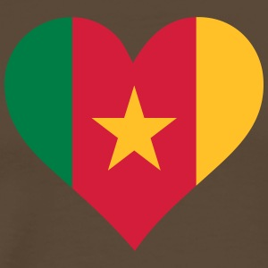 Et hjerte for Kamerun - Premium T-skjorte for menn