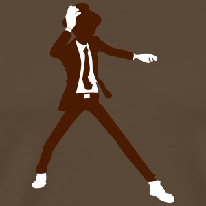 A Disco Dancer In Suit With Hat - Men's Premium T-Shirt
