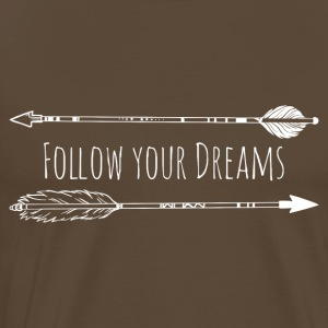Follow Your Dreams - Arrows White - Men's Premium T-Shirt