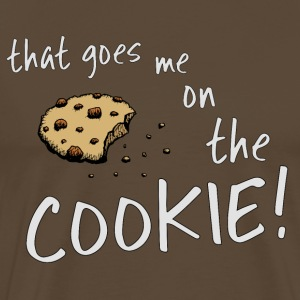 that goes me on the cookie biscuit monster dinglish - Men's Premium T-Shirt