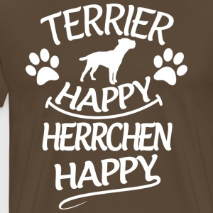 Terrier Happy Herrchen Happy - Männer Premium T-Shirt