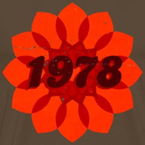 1978 orange flower - Männer Premium T-Shirt