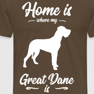 Great Dane - Hund - Premium-T-shirt herr