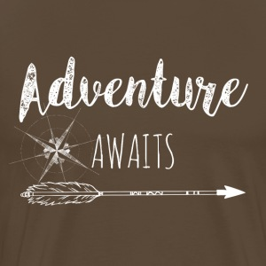 Adventure Awaits - White - Men's Premium T-Shirt