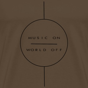 music on - Männer Premium T-Shirt
