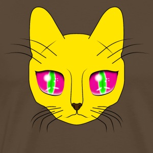 The cat with big eyes - Men's Premium T-Shirt