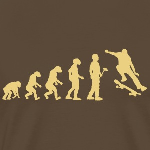 Evolution skateboard - Mannen Premium T-shirt