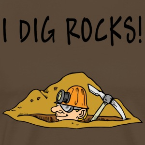 I Dig Rocks - Men's Premium T-Shirt