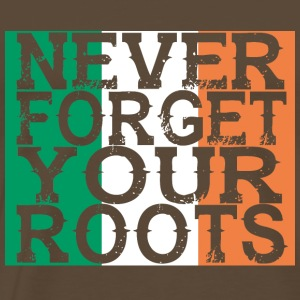never forget roots home Ireland - Men's Premium T-Shirt