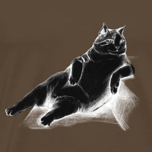 Cat sitting on sofa - Men's Premium T-Shirt