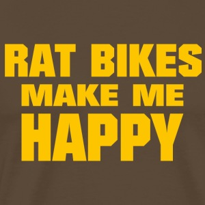 Rat Bikes Make Me Happy - Men's Premium T-Shirt