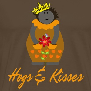 Hedgehog in the fog, Crown, Flower Hogs and Kisses - Men's Premium T-Shirt