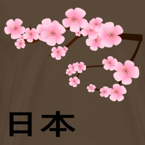 Asia Japanese Cherry Blossoms Japan Botany Cherry - Men's Premium T-Shirt