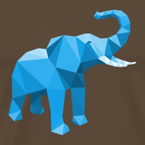 Elephant blue with stylish LowPoly effect - Men's Premium T-Shirt