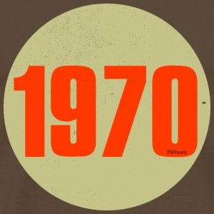 1970 orange circle - Men's Premium T-Shirt