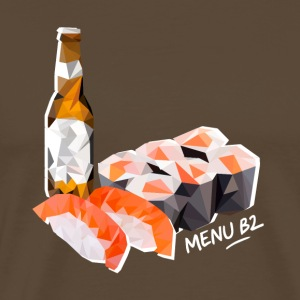 Menu B2: sushi, maki, beer - Men's Premium T-Shirt