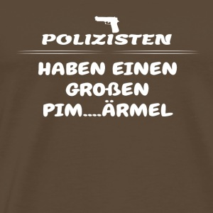 Gift have big penis POLICE - Men's Premium T-Shirt