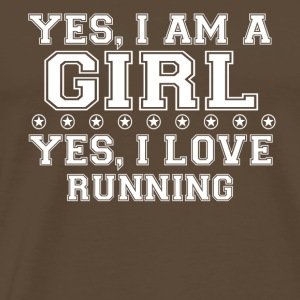 gift on girl a girl love gift bday RUNNING - Men's Premium T-Shirt
