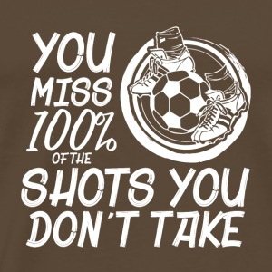 Soccer player 100% Shot football boots - Men's Premium T-Shirt
