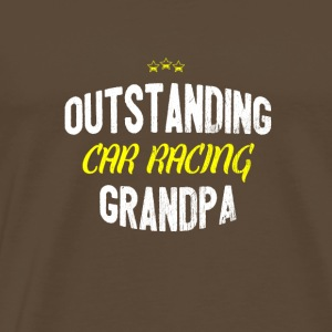 Distressed - OUTSTANDING CAR RACING GRANDPA - Männer Premium T-Shirt