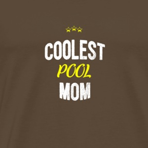 Distressed - COOLEST POOL MOM - Männer Premium T-Shirt
