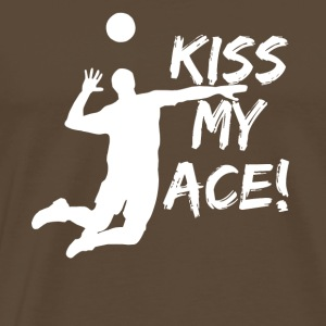Volleyball Serving Gift Design - Men's Premium T-Shirt