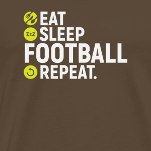 Eat, sleep, football, repeat - gift - Men's Premium T-Shirt