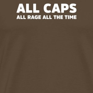 Alle Caps Alle Rage All Time - Herre premium T-shirt